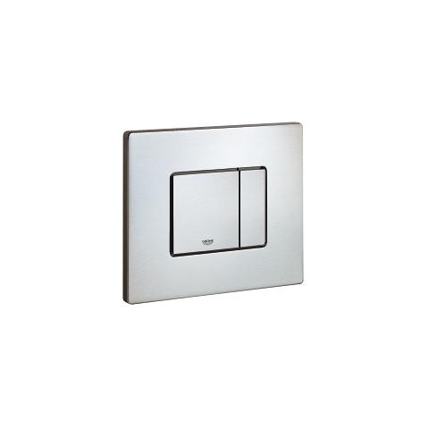 Flush plate, stainless steel