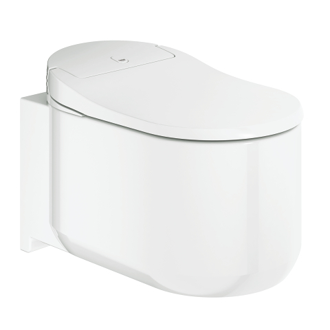 Shower toilet complete system for concealed flushing cisterns, wall-hung