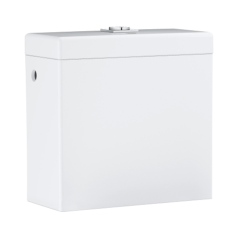 Cube Ceramic Exposed flushing cistern for close coupled combination