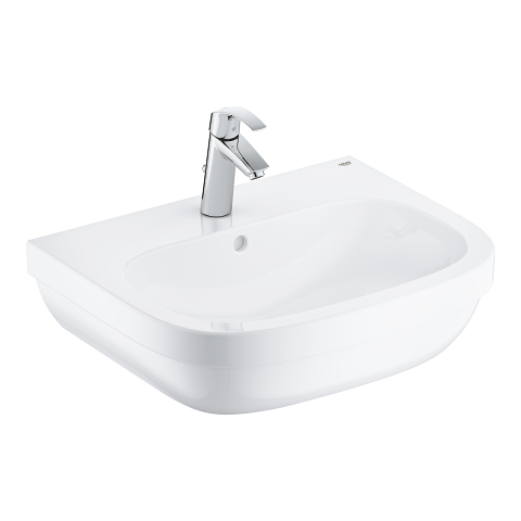 Euro Ceramic Bundle wash basin 60 + Eurosmart basin mixer