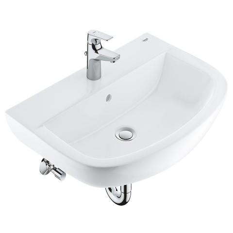 Bundle wash basin 60 + BauFlow basin mixer