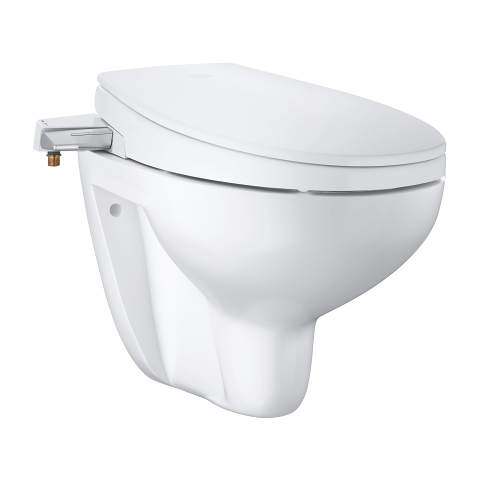 Manual bidet seat 2-in-1 set wall hung