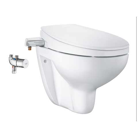 Manual bidet seat 3-in-1 set, wall hung