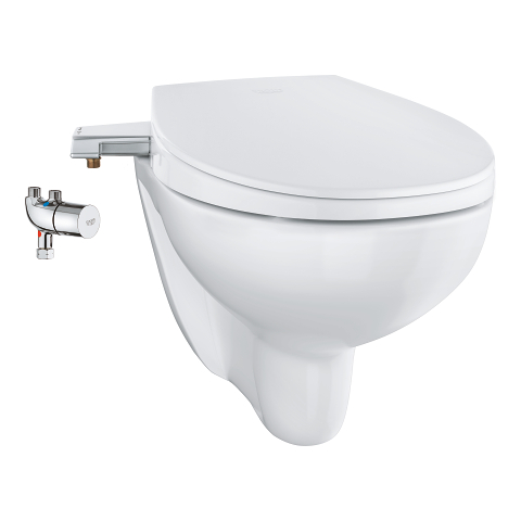 Bau Ceramic Manual bidet seat 3-in-1 set, wall hung
