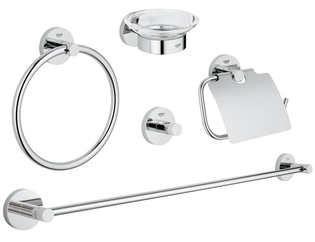 Essentials Master bathroom accessories set 5-in-1<br />