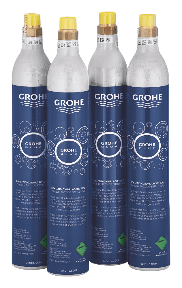 grohe blue starter kit 425 g co2 bottles 4 pieces. Black Bedroom Furniture Sets. Home Design Ideas
