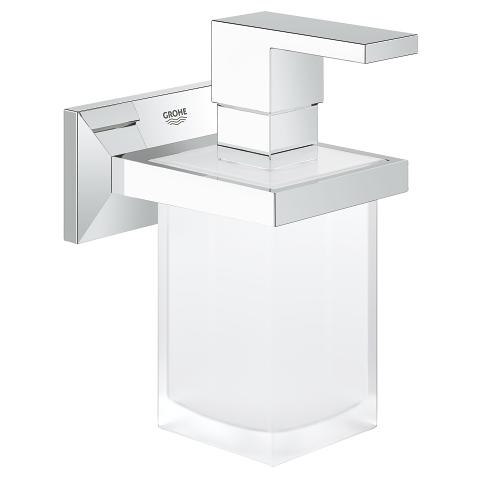 Allure Brilliant Soporte con dispensador de jabón de cristal satinado
