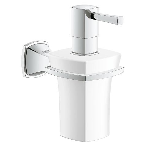 Holder with ceramic soap dispenser