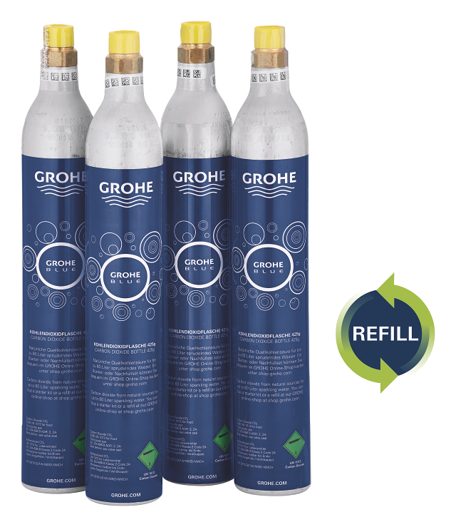GROHE Blue Botellas de recarga 425 g CO<sub>2</sub> (4 piezas)