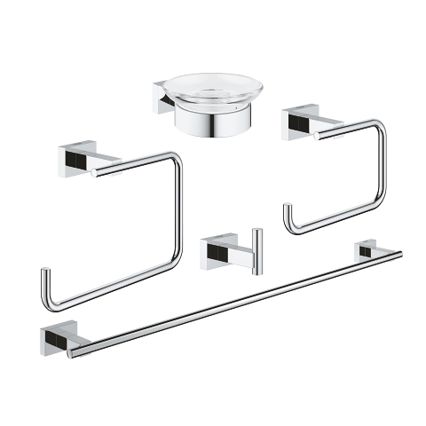 Essentials Cube Master bathroom accessories set 5-in-1