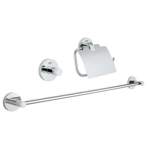 Essentials Guest bathroom accessories set 3-in-1