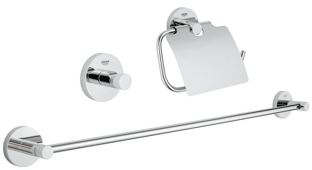 Essentials 3-in-1 Guest bathroom accessories set
