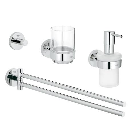 Master bathroom accessories set 4-in-1