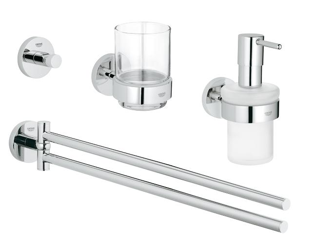 Essentials 4-in-1 Master bathroom accessories set