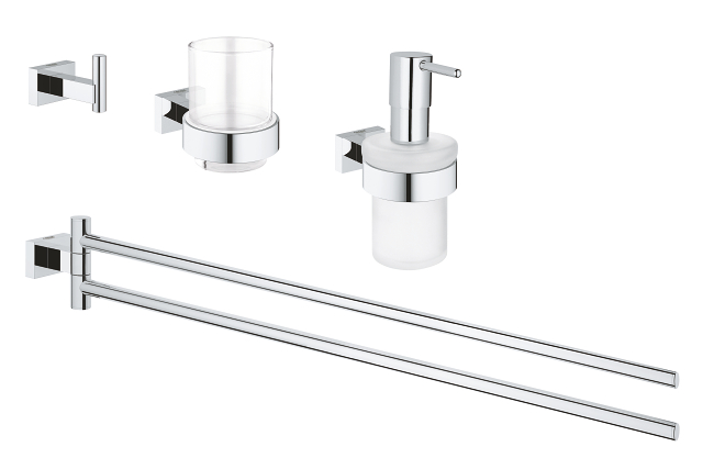 Essentials Cube Bathroom accessories set 4-in-1