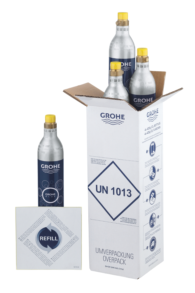 GROHE Blue Starter kit 425 g CO<sub>2</sub> bottles (4 pieces)