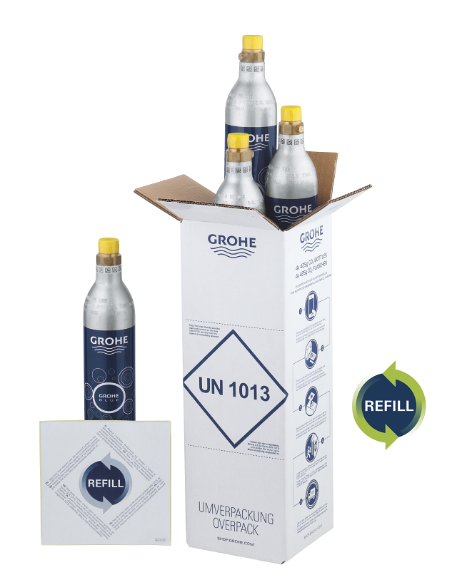 GROHE Blue Refill 425 g CO<sub>2</sub> bottles (4 pieces)