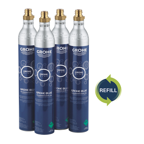 GROHE Blue Refill 425 g CO2 bottles (4 pieces)