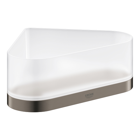 Corner shower tray with holder