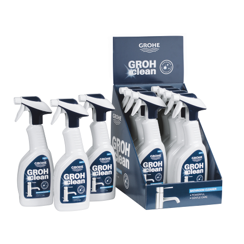 Grohclean detergent for fittings and bathrooms grohe for Grohe grohclean bathroom cleaner