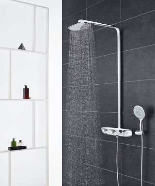 rainshower smartcontrol luxury shower system grohe. Black Bedroom Furniture Sets. Home Design Ideas