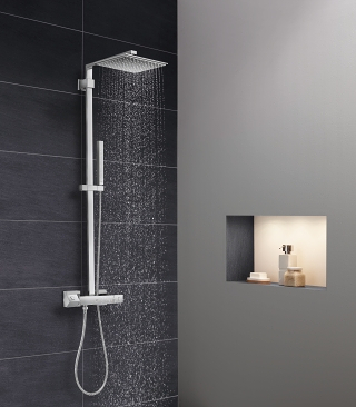 euphoria cube shower systems grohe. Black Bedroom Furniture Sets. Home Design Ideas